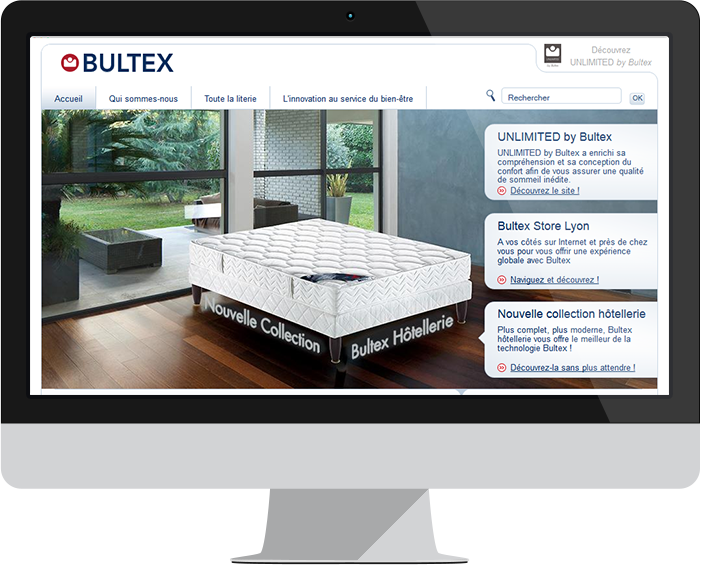 Screen capture of Bultex website
